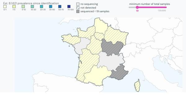 Présence du variant colombien en France