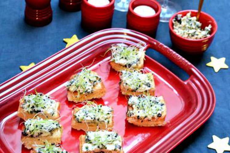 Toasts briochés au beurre d'algues