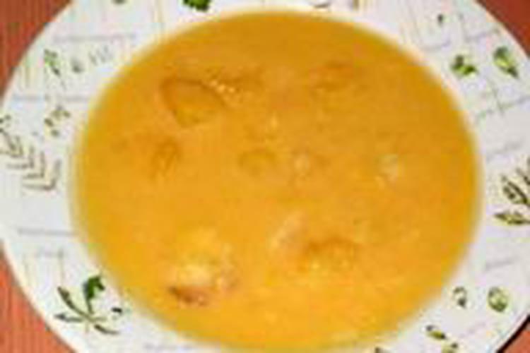 Soupe de citrouille sucrée