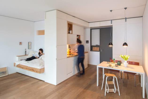 Un studio individuel au sein d'un loft communautaire