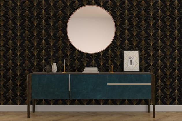 papier peint noir et dor 4 murs. Black Bedroom Furniture Sets. Home Design Ideas