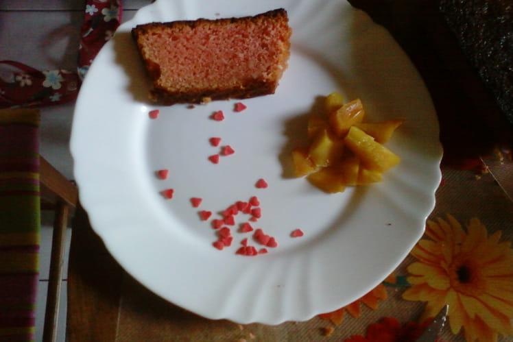 Cake rose aux pralines
