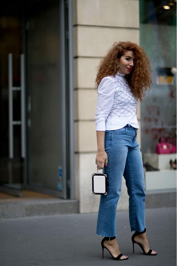 Street style à Paris : le col montant
