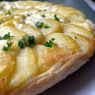 tatin de pommes de terre au cantal
