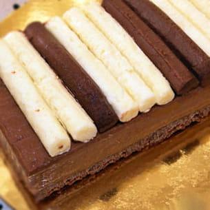 tarte piano aux 3 chocolats en 3 textures