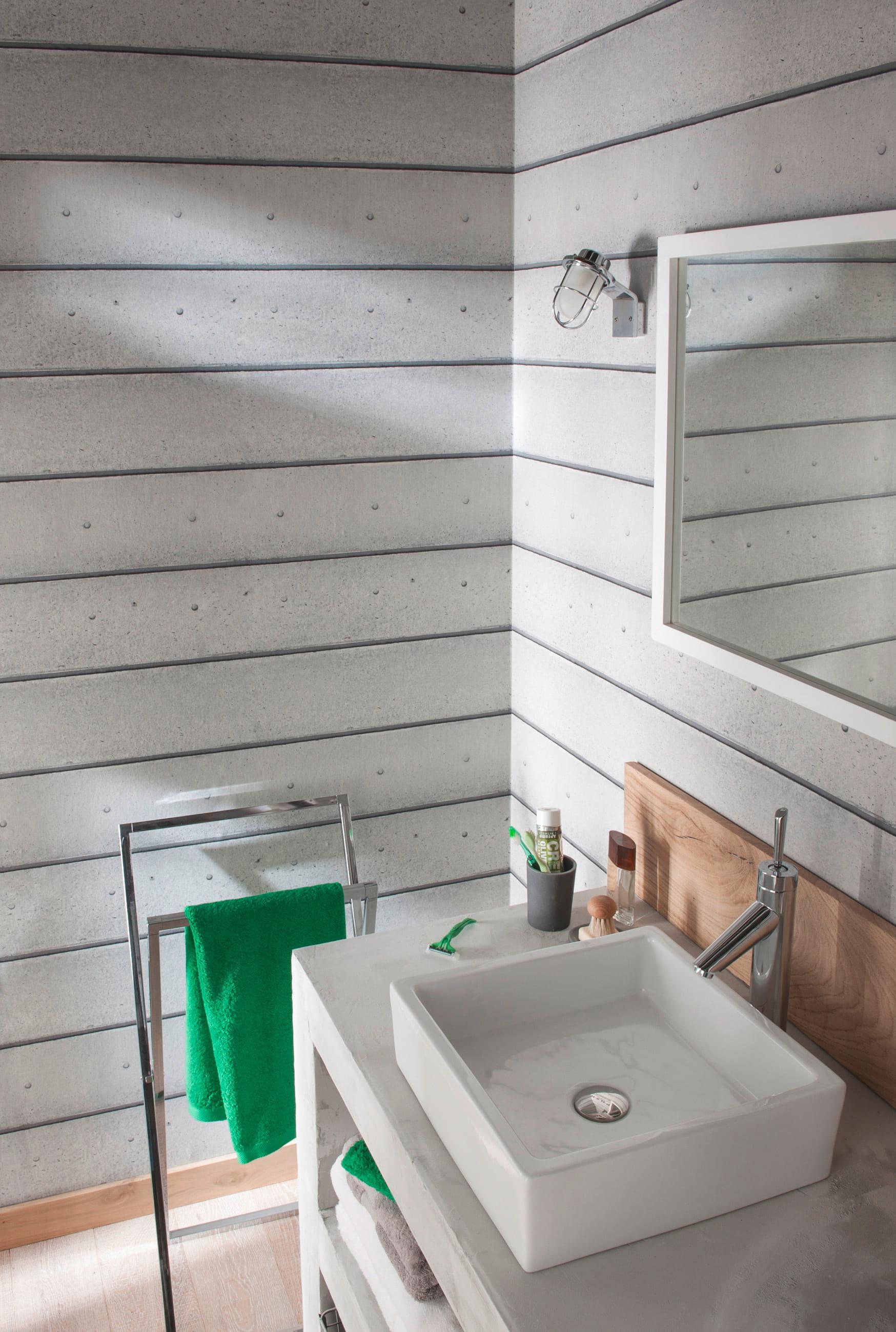 papier peint b ton line de castorama. Black Bedroom Furniture Sets. Home Design Ideas