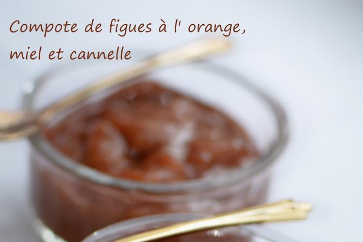 Compote de figues à l'orange, miel et cannelle