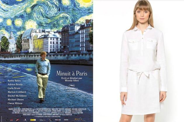 """Une robe-chemise façon Inez dans """"Minuit à Paris"""""""