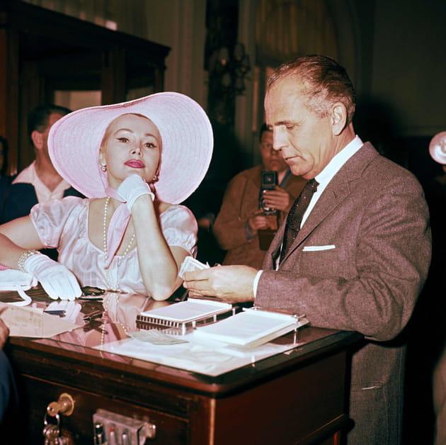En 1959avec son 4è mari, Herbert Hutner