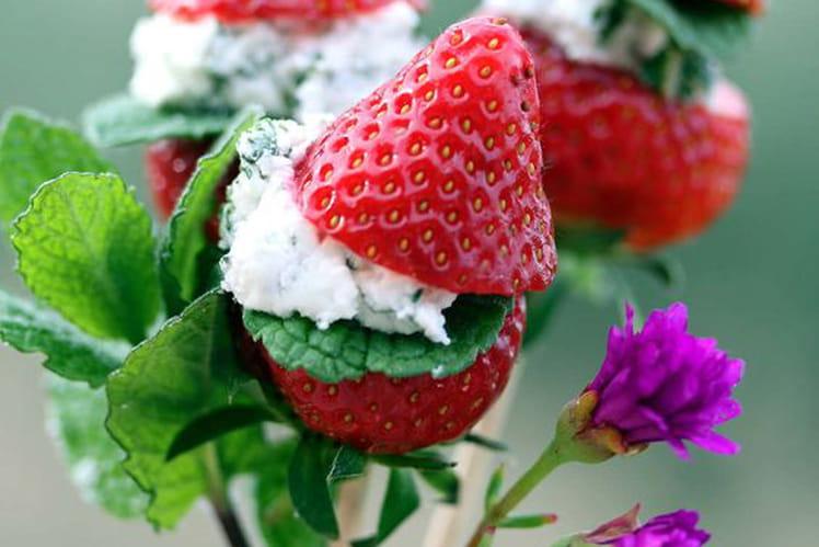 Sucettes de fraise