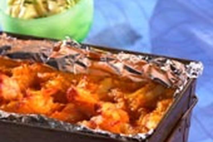 Moelleux de saumon au coulis de persil