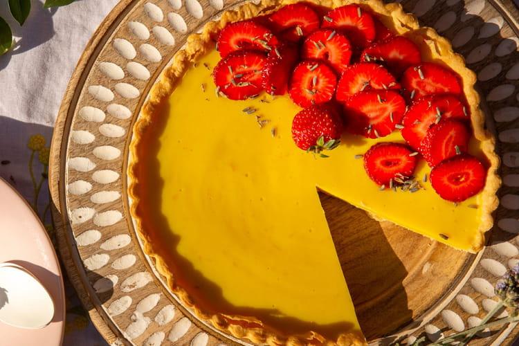 Tarte vegan fraises et citron
