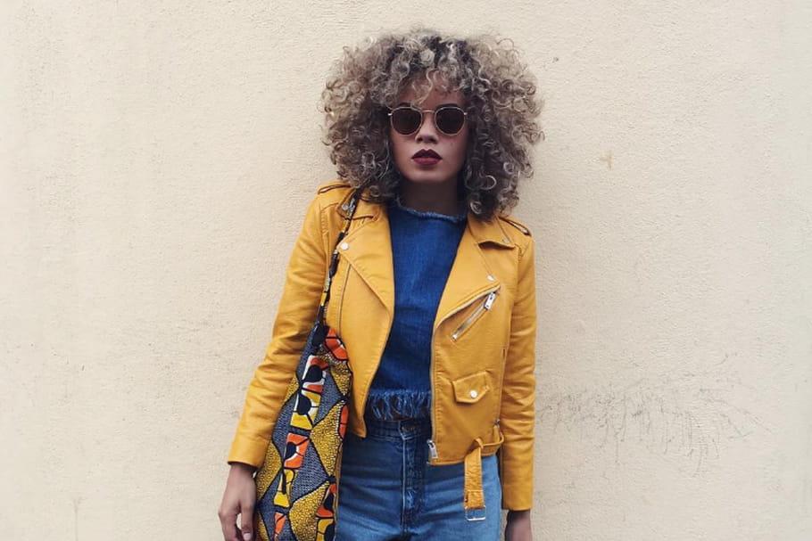 Le look blogueuse de la semaine : Celmatique rit jaune à l'heure bleue