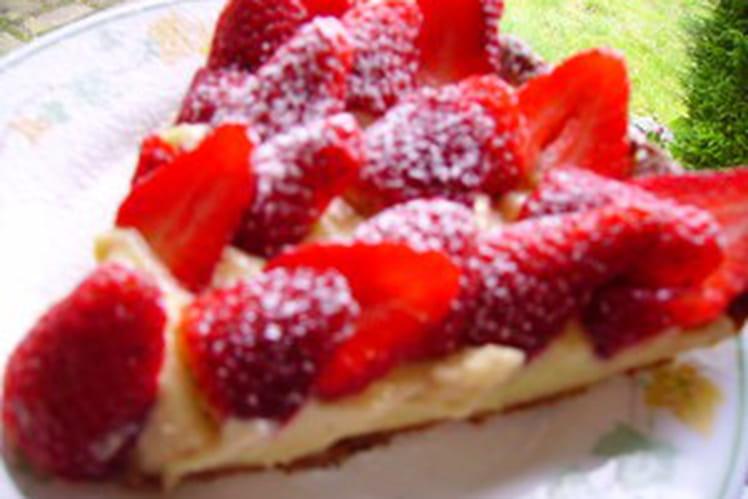 Tarte aux fraises 100% maison