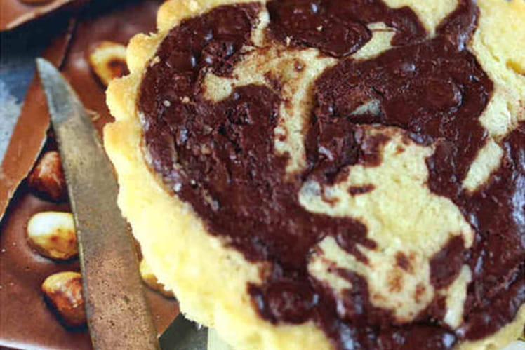 Génoise façon tartelette à la vanille et chocolat