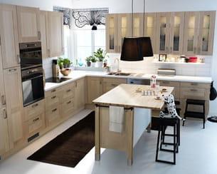cuisine faktum adel bouleau d 39 ikea. Black Bedroom Furniture Sets. Home Design Ideas