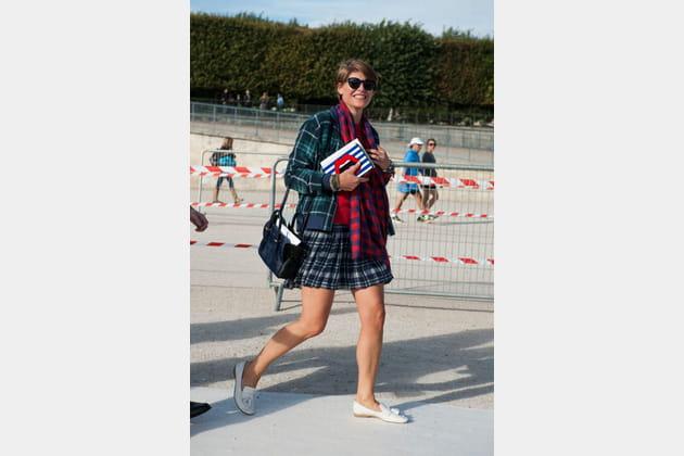 Street looks fashion week Paris: preppy