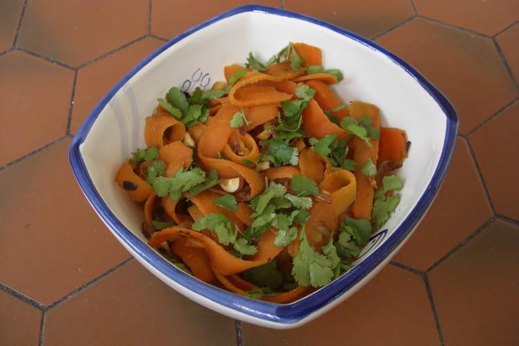 Tagliatelles de carottes à la marocaine