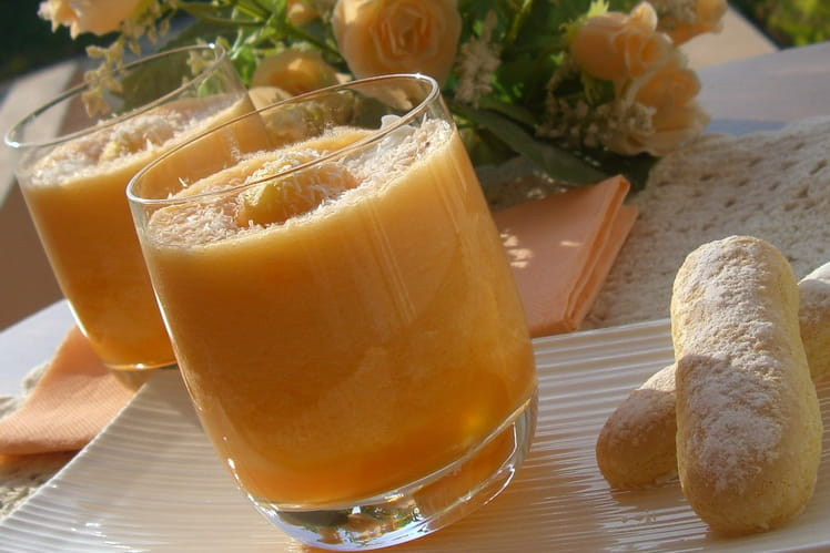 Verrine de melon à la noix de coco