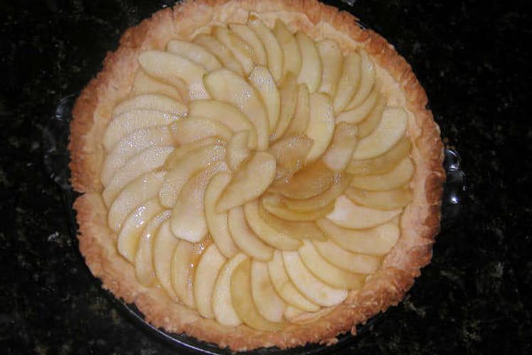 Tarte aux pommes crémeuse