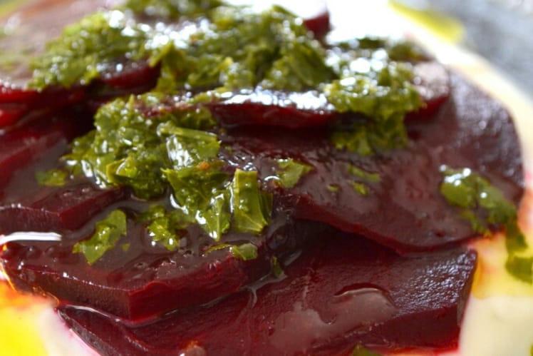 Betterave à l'huile d'olive et au citron à la turc