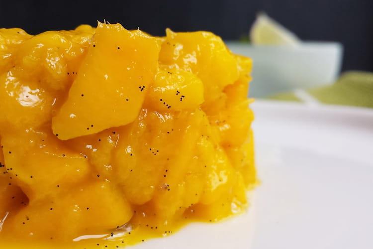 Tartare de mangue, vanille et citron vert