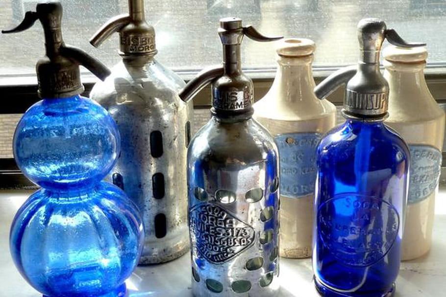 Le truc à chiner: un siphon d'eau de Seltz en verre