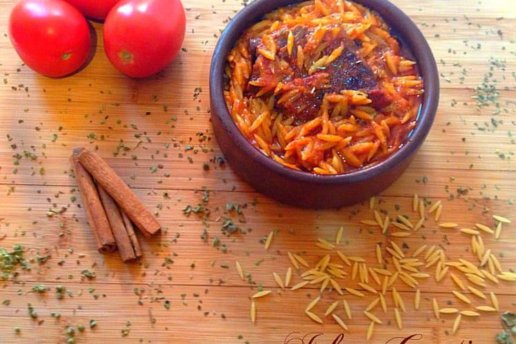 Arni Youvetsi, ragoût à la tomate