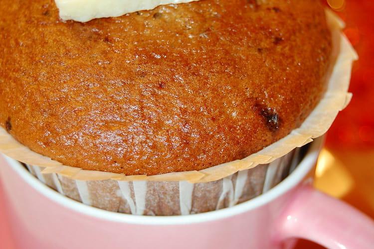 Muffins au café coeur chocolat blanc