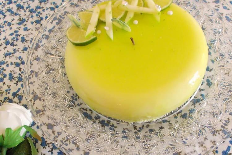 Entremets pomme verte citron vert coco