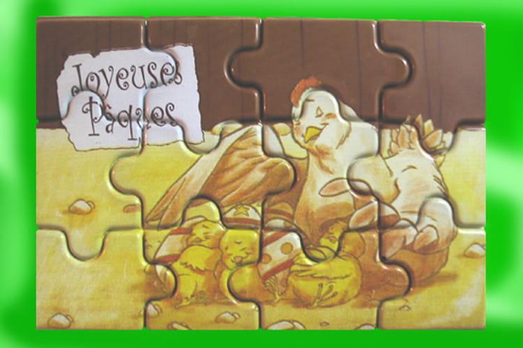 Puzzle de Pâques en chocolat