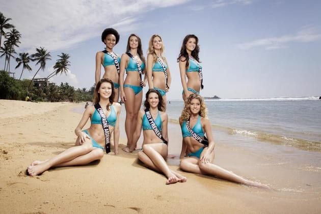 Miss Mayotte, Corse, Lorraine, Côte d'azur, Champagne Ardenne, Midi-Pyrénées et Guadeloupe en maillots de bain