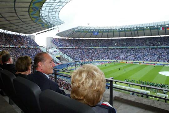 Jacques Chirac, dans les stades