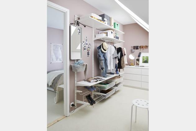 Dressing IKEA avec des crémaillères
