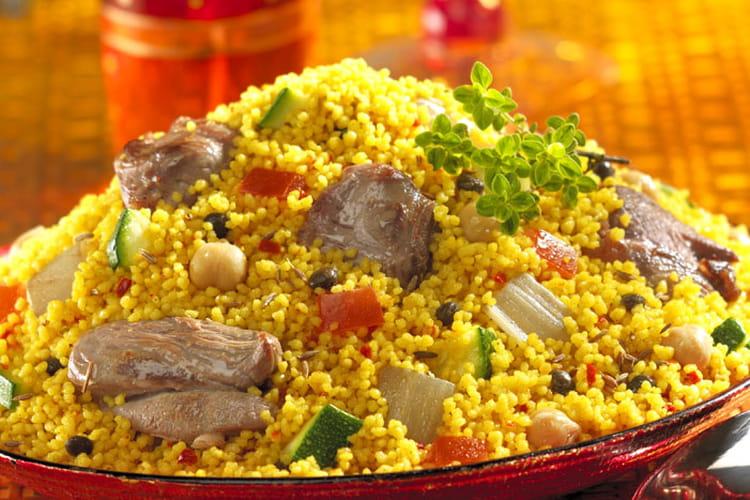 Couscous à l'orientale (lentilles-pois chiches)