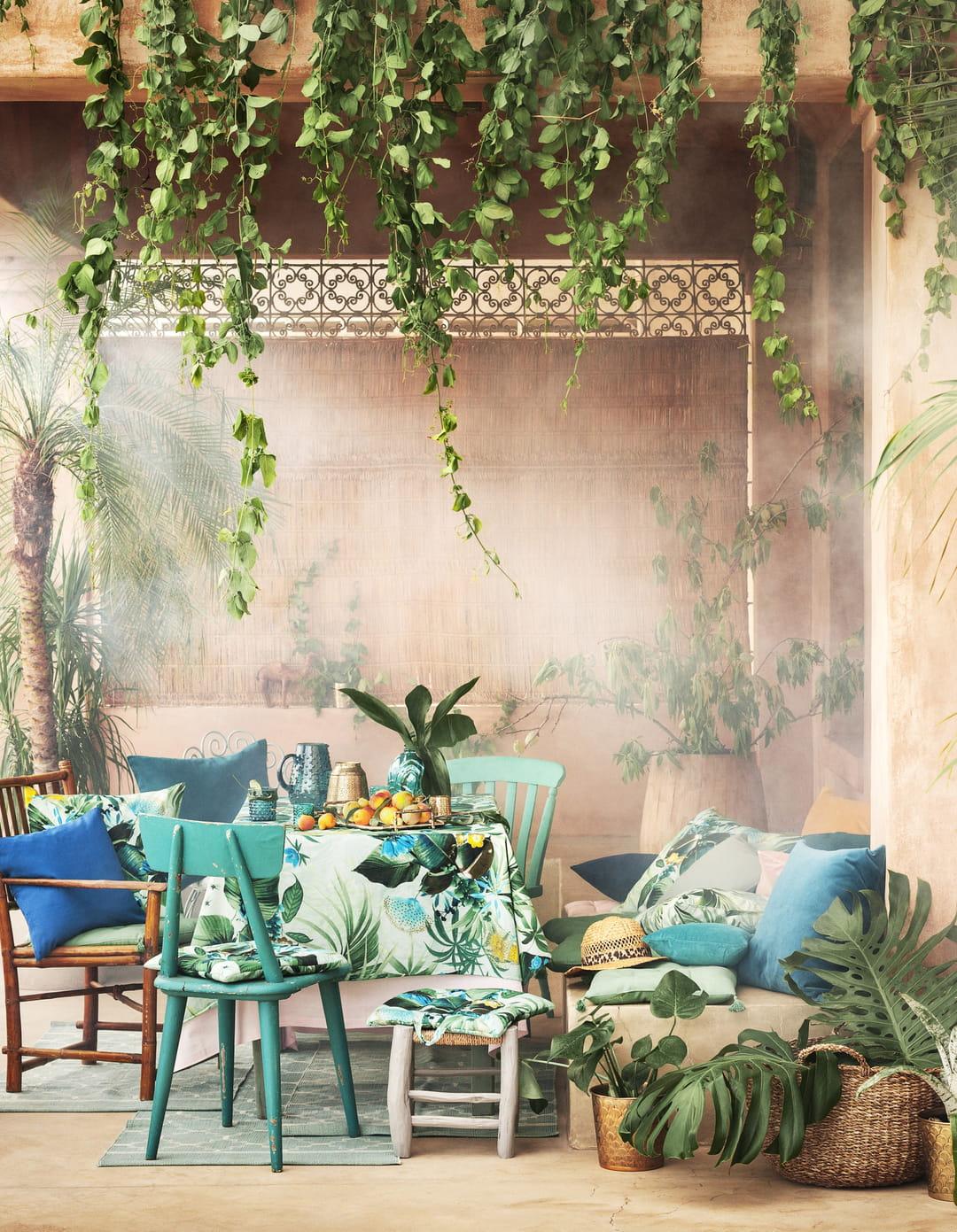 Deco Chambre Style Exotique la déco tropicale, entre végétation exubérante et couleurs vives