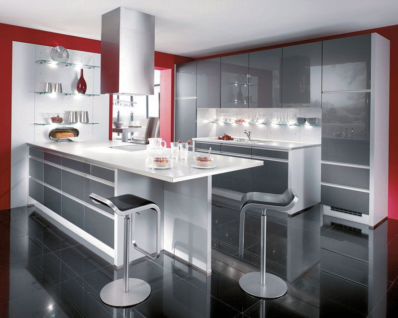 Cuisine platine de but for Modele cuisine italienne design