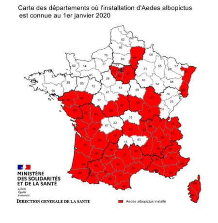 carte moustique tigre france