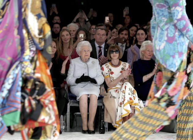 Au premier rang à  la Fashion Week de Londres