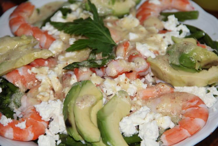 Salade aux couleurs du printemps