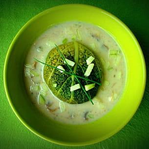 paupiettes de saumon, champignons et pomme granny