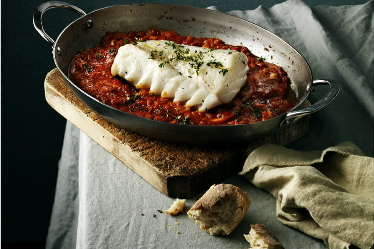 Skrei au four tomates et ail