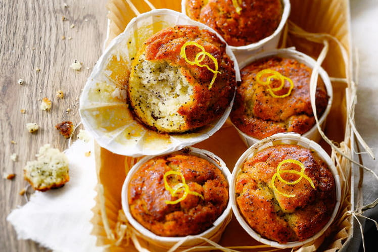 Moelleux de pomme de terre au citron et aux graines de pavot sans gluten