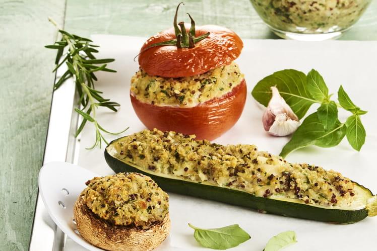 Farandole de légumes farcis végétariens
