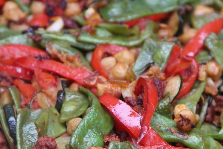Légumes d'été à l'espagnole à la plancha