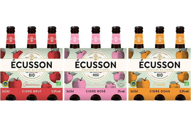 Le nouveau format des cidres Ecusson