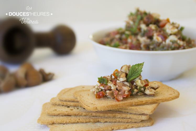 Sauce apéritive câpres échalotes tomates cerise Pebré