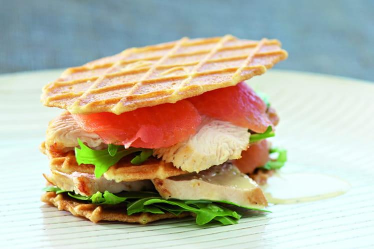 Club sandwich aux galettes Jules Destrooper et dinde grillée