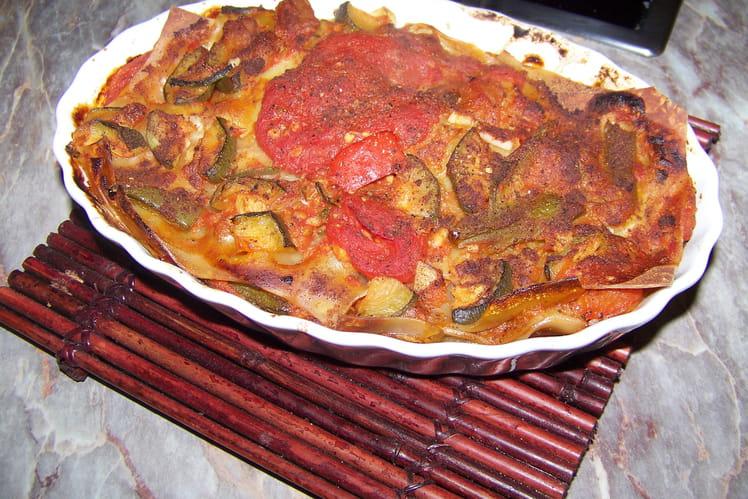 Lasagnes de légumes rôtis