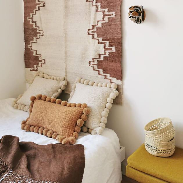 L'objet du désir: le coussin à pompons blanc de Finca Home
